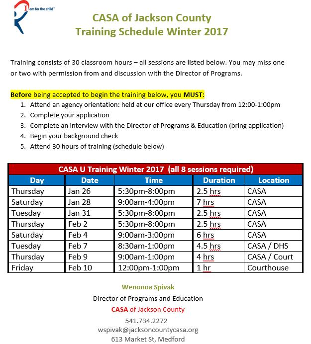 casa-u-winter-2017-training-schedule