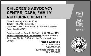 Panda Express coupon - Change for Children 2016