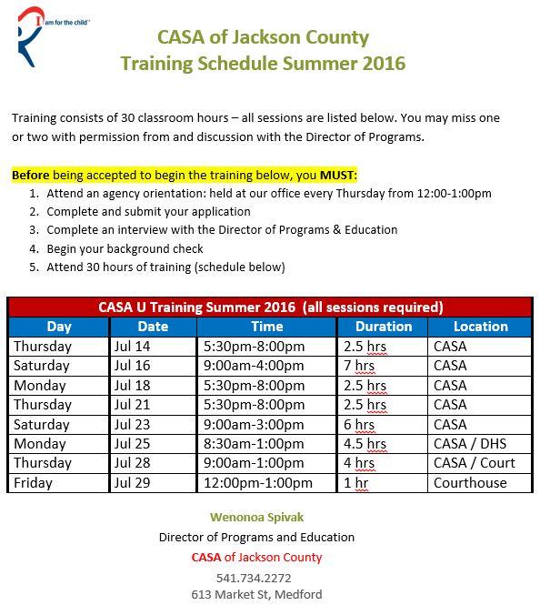 CASA U Summer 2016